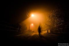 Rue dans la brume