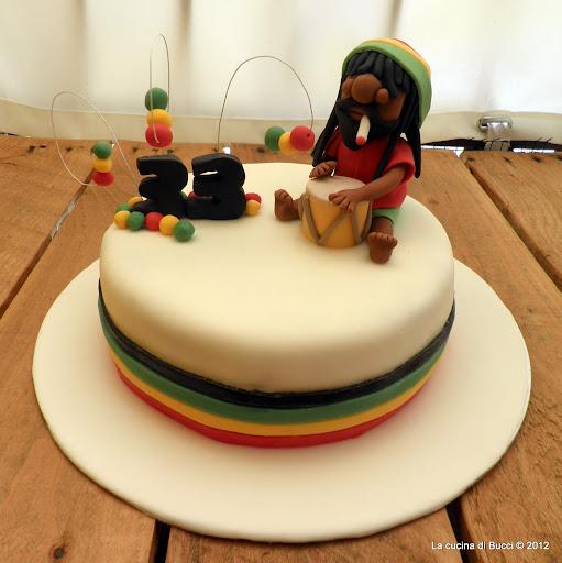 Torta reggae con Bob Marley