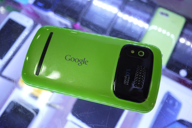 Mobile phone with the Google logo on its back in Changsha, China