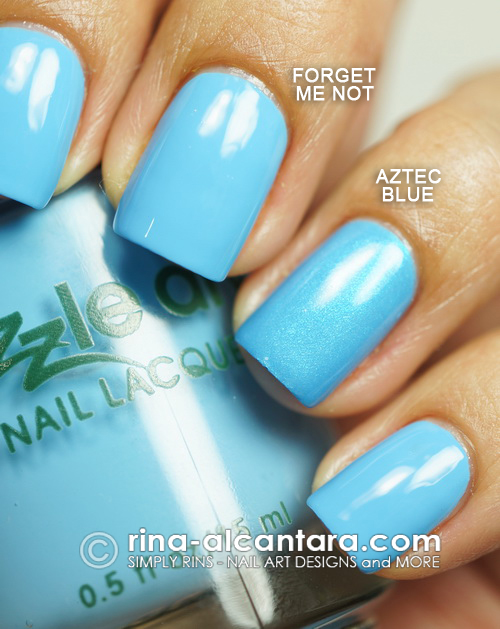 Dazzle Dry Forget Me Not vs Aztec Blue