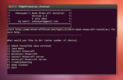 Minecraft su Ubuntu