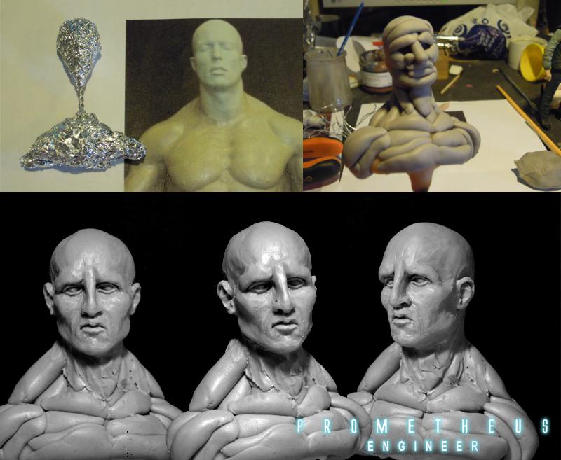 Prometheus engineer bust 1/10 Ingenieur01
