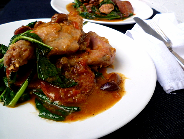 hungry tummies: Braised Wild Rabbit With Salami, Cavolo Nero And ...