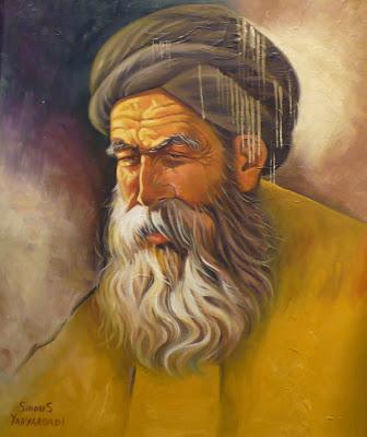 Old Suffy Man Sirous Yahyaabadi, Oil, 22 x 18