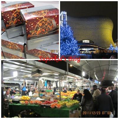 傳統市場、高級購物中心、還有Tesco賣的聖誕蛋糕。