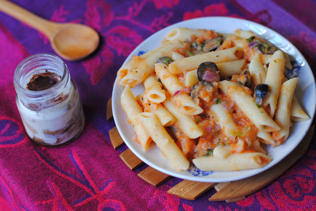 easy arrabbiata pasta recipe by ServicefromHeart