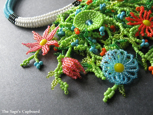 Tropical Beaded Flowers