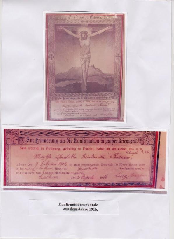 Konfirmationsurkunde von 1916