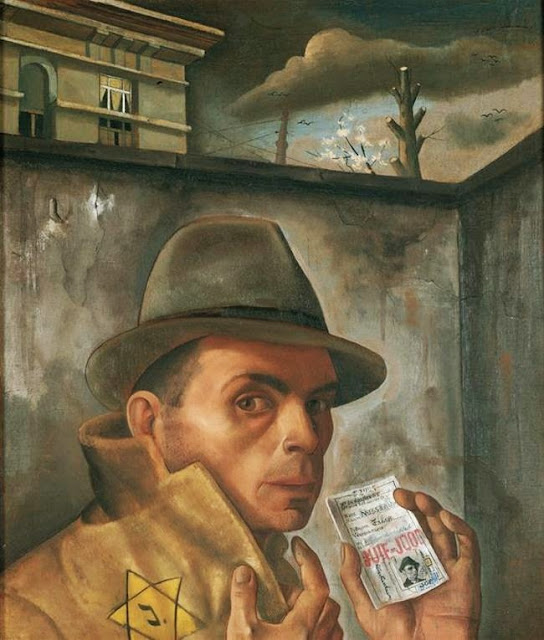 Felix Nussbaum - Self Portrait with Jewish Identity Card