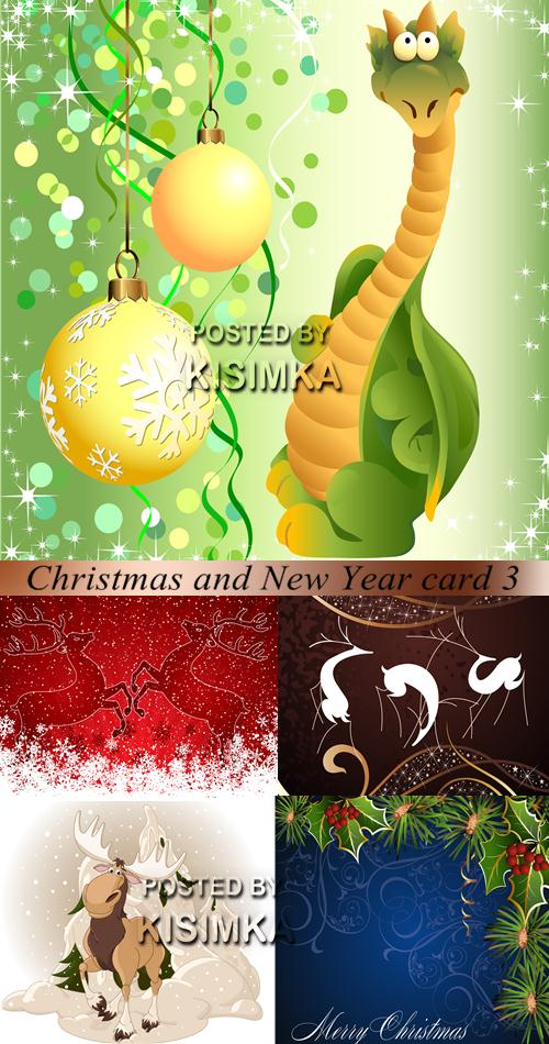Stock: Christmas and New Year card 3