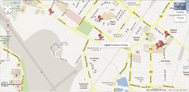 Capital Computer College Bhubaneswar Area Map