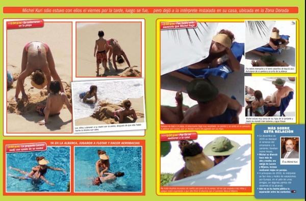 Vacaciones Juntos Lucero Y Sus Hijos Con Su Novio Michel Kuri