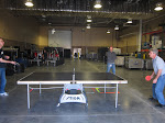 the ping pong rivalries continue in the loading bay