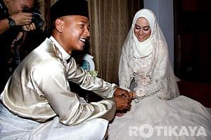gambar kahwin natasha hudson dan penyayi rap carleed khaza