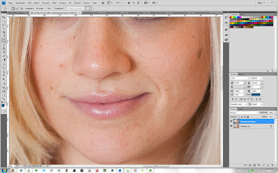 Ausbessern-Werkzeug - Schritt 4 in Photoshop