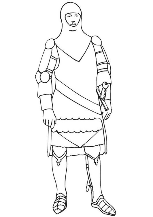 Knight with armor coloring pages