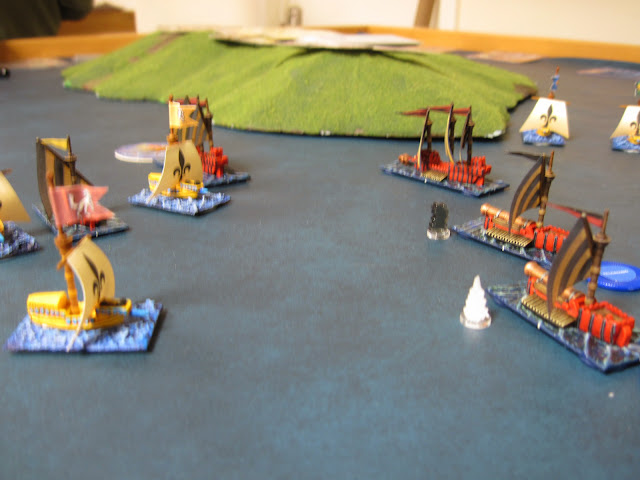 Buccaneers capture a War Galley and try to sink some Hell Hammers.