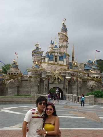 Famous Disneyland Castle at Disneyland Hongkong