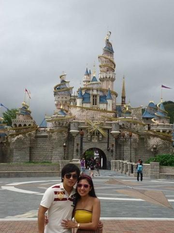 Famous Disneyland Castle at Disneyland Hongkong