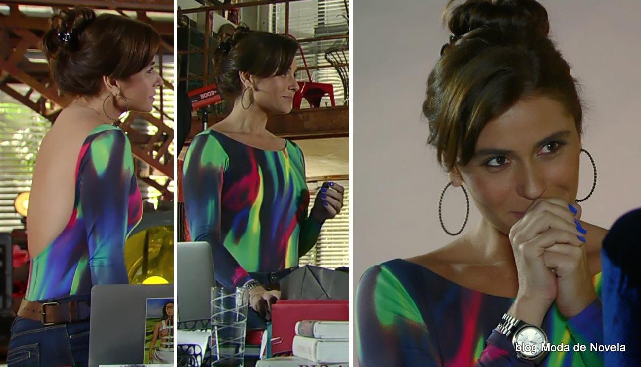 moda da novela Em Família - look da Clara dia 30 de junho