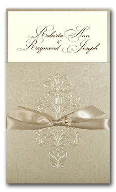 Invitación elegante en color plateado