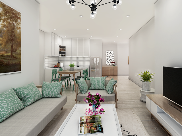 Không gian căn hộ chung cư Samsora Premier 105