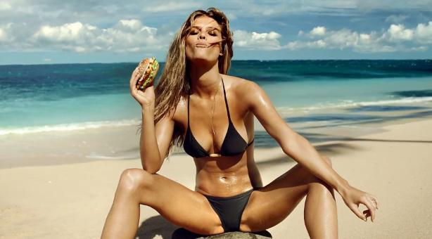 Nina Agdal In The Super Sexy Carl's Jr. Super Bowl Ad