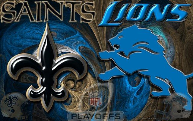 Detroit Lions New Orleans Saints Playoff Wallpaper