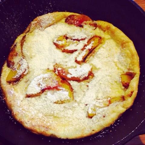 Cupcake Muffin: Secret Recipe Club: Peach Dutch Baby