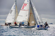 J/80 one-design sailboats- sailing San Diego NOOD