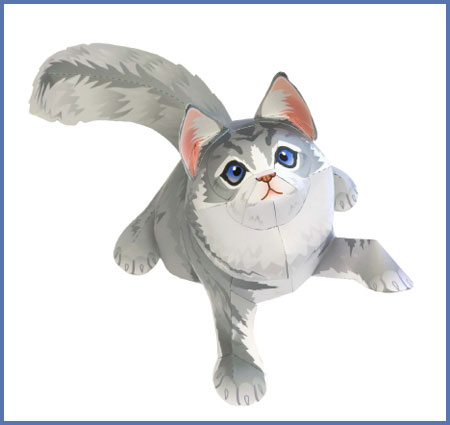 Maine Coon Papercraft Cat