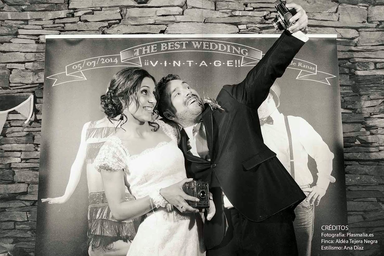 Photocall Vintage para una boda original y divertida.