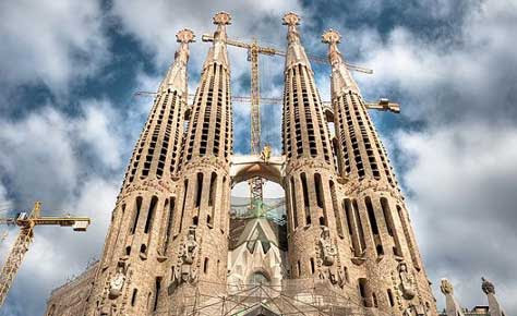 La Sagrada Familia, foto exterior bonita