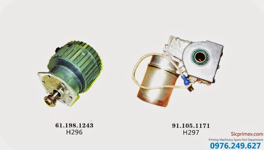 Chuyên nhập khẩu các loại mô tơ máy ngành in chính hãng H296-297