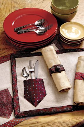 necktie-placemats-and-napkin-rings
