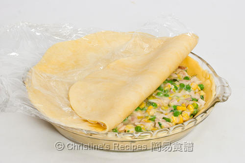 雞批製作圖 How to Make Chicken, Leek and Pea Pie