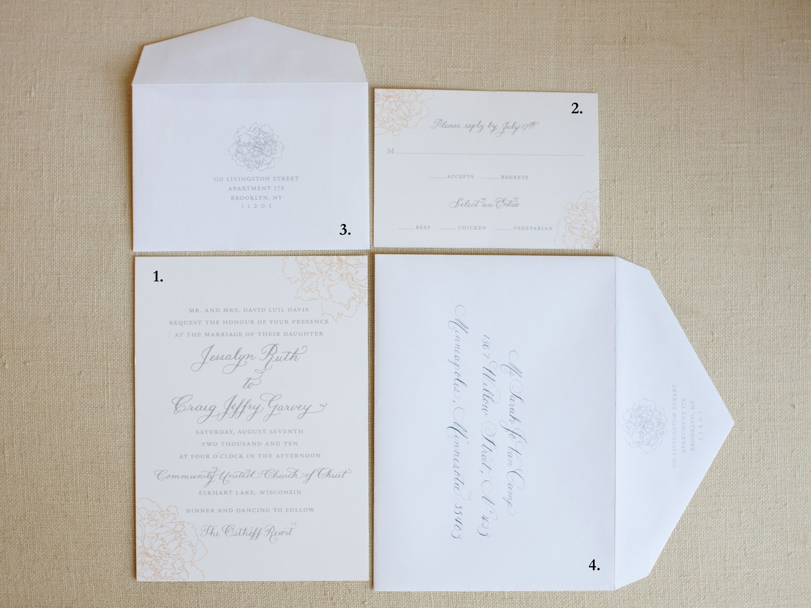 Tips: Anatomy of an Invitation Suite - Laura Hooper Calligraphy
