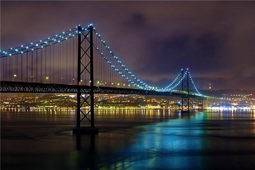 Мост 25 апреля в Лиссабоне фото