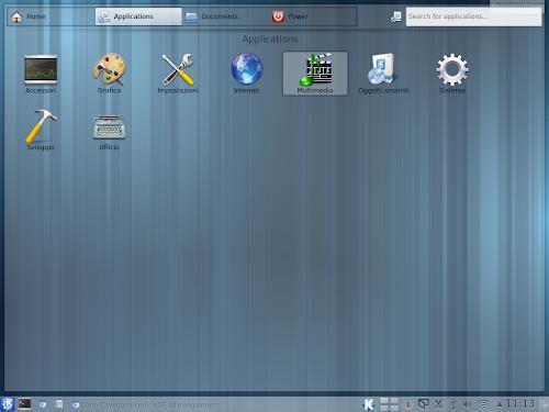 KDE Homerun Launcher - Applicazioni