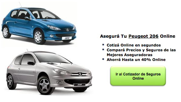 Seguros de Auto para Peugeot 206