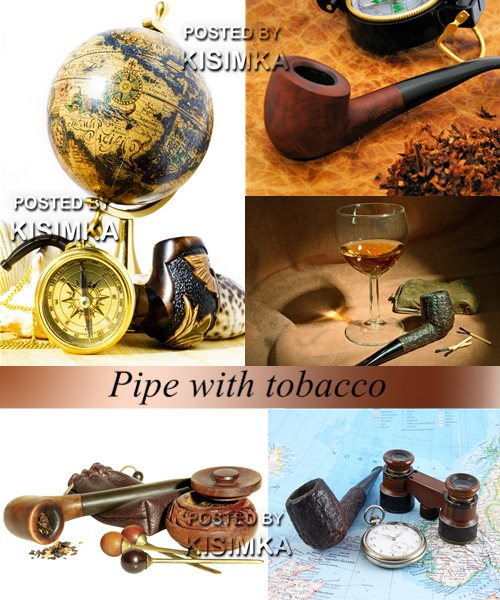Stock Photo: Pipe with tobacco