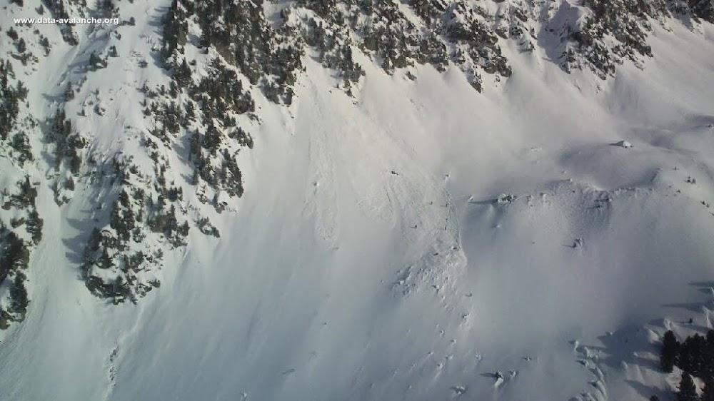 Avalanche Belledonne, secteur Pointe de Rognier, Pas du Gargoton ; La Grande Roche Blanche - Photo 1 - © Sapeurs Pompiers Savoie