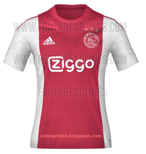 ao bong da - áo bóng đá đội Ajax Amsterdam 2015 - 2016