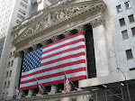 And there's the front of the NYSE with a humongous US flag