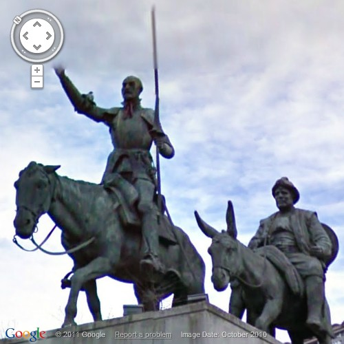 Roaming The Google Streets: Don Quixote and Sancho Panza in Brussels