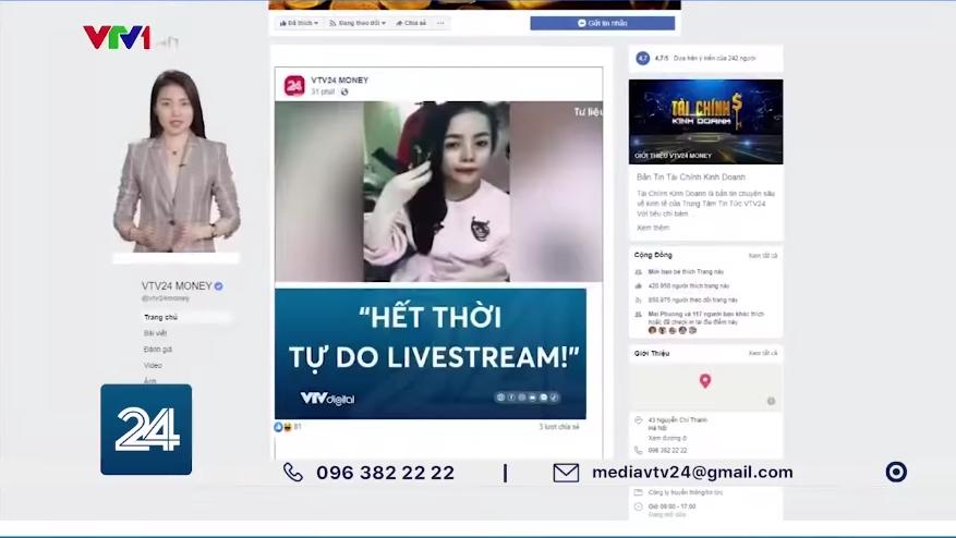 """VTV đưa tin """"Hết thời tự do livestream"""", hàng loạt hot girl hở hang 18+ và nhiều đối tượng sẽ vào tầm ngắm - Ảnh 1."""