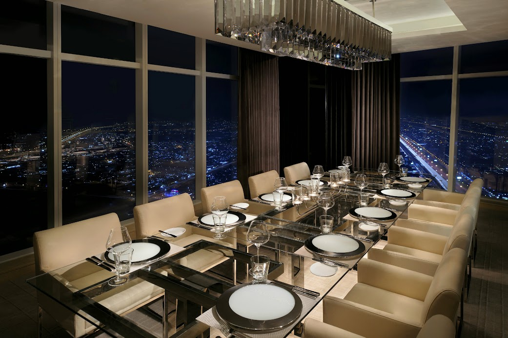 Weekend dining at prime 68 in dubai weekend ideas for for Best private dining rooms dubai
