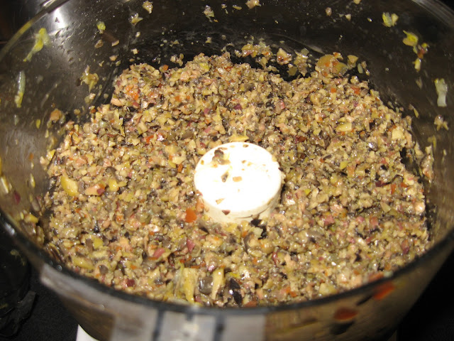 Making Mixed Olive Tapenade