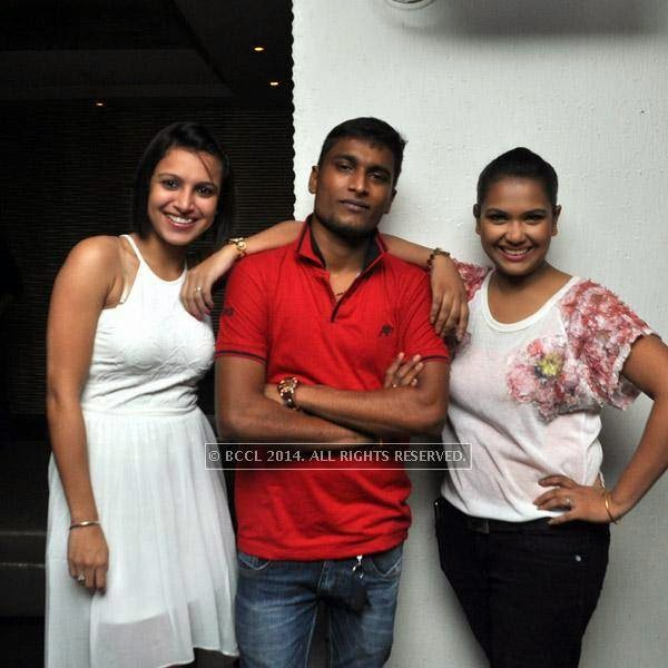 Veronica, Niladri and Soumili during a party at Underground in Kolkata.
