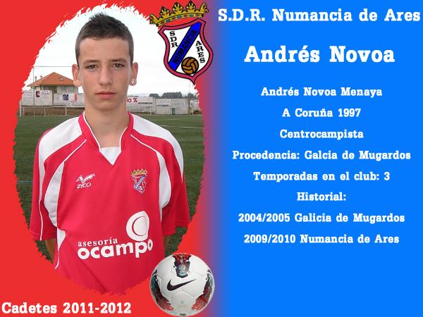 ADR Numancia de Ares. Cadetes 2011-2012. ANDRES NOVOA.